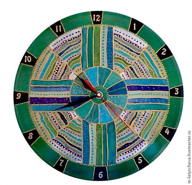 Яркие настенные часы (роспись), фото № 24