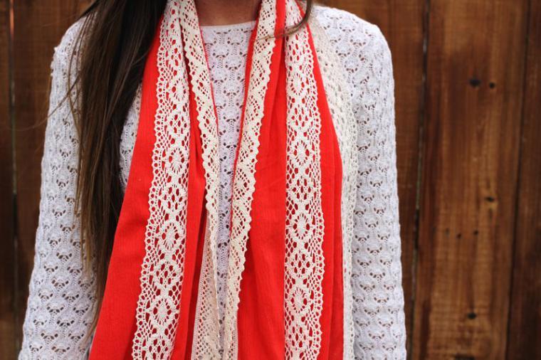 Простые шарфы своими руками