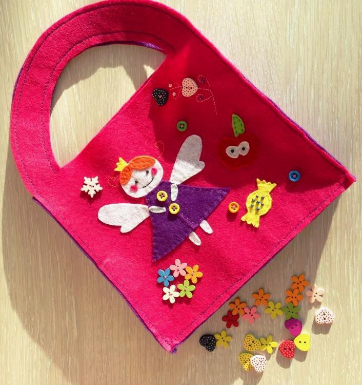 сумка, сумочка из фетра, маленькая сумочка, аксессуар, принцесса, подарок девочке, леди, сумочка для девочки, розовая сумка, фетр, изделия из фетра