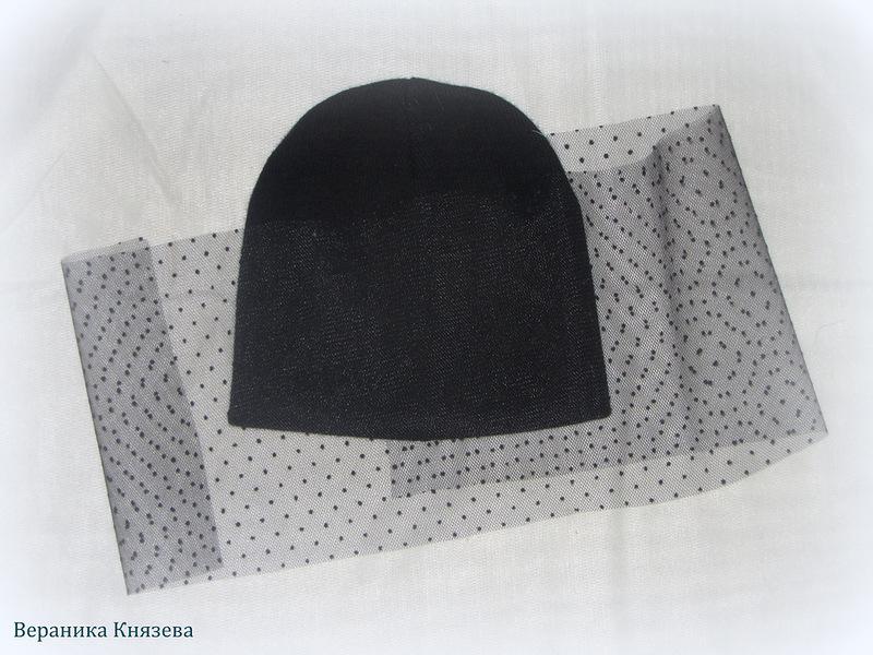 шапка с вуалью