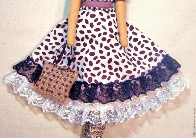 Как сшить на куклу юбку полусолнце