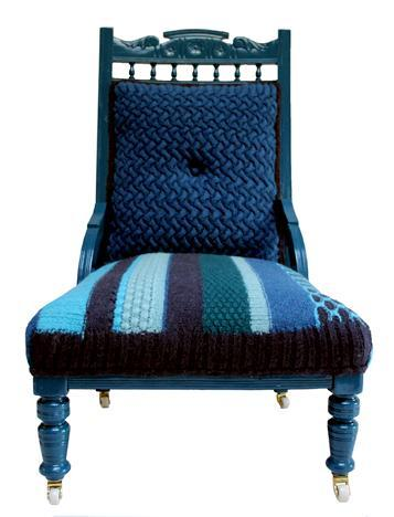 Переделка старых кресел и стульев  при помощи вязанных чехлов