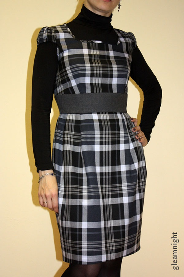 повседневное платье, теплая одежда, шерстяное платье, офисное платье, акция сегодня, школьное платье, клетка