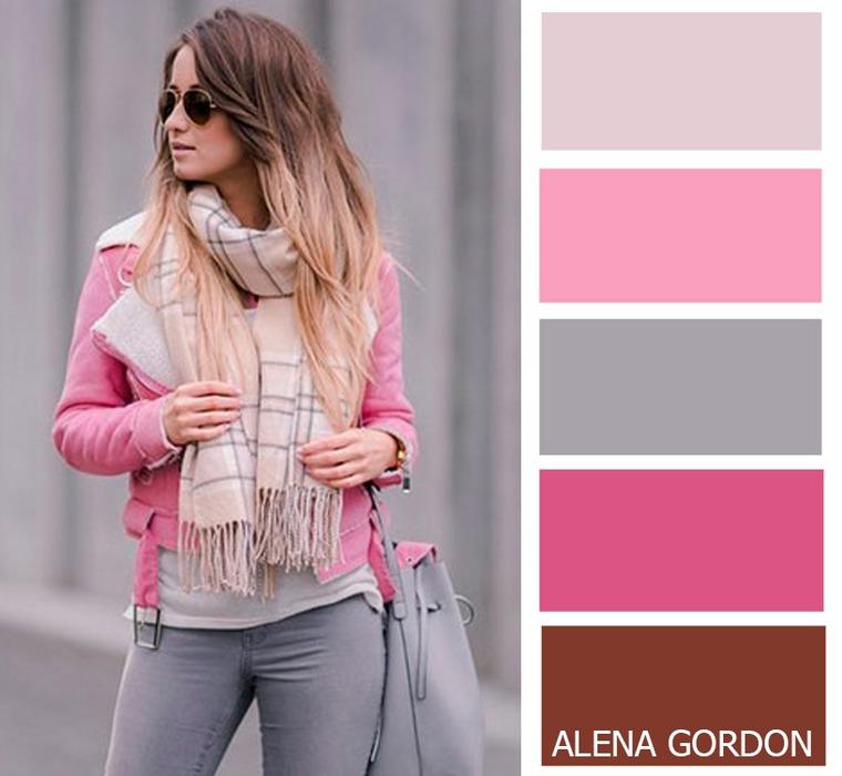 Какие цвета сочетаются с розовым цветом картинки