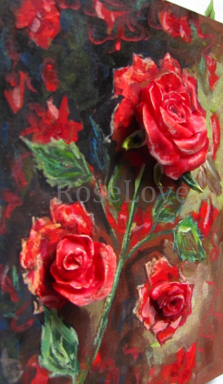 розы, купить подарок, яркий, керамическая флористика, хорошее настроение, подарок женщине, картина в подарок