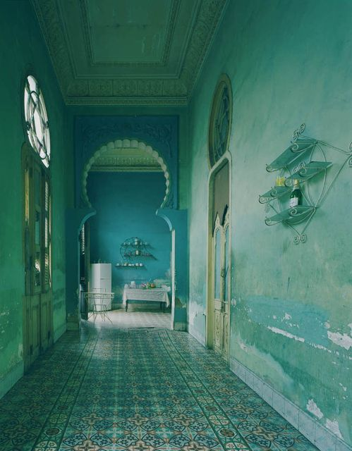 Michael Eastman, Cuba 2010  The arch and the floor tiles and the blue... obsessed.