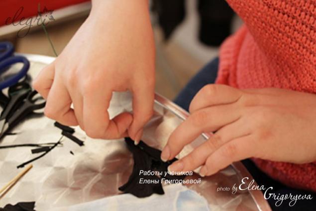 обучение ирис, изготовление цветы