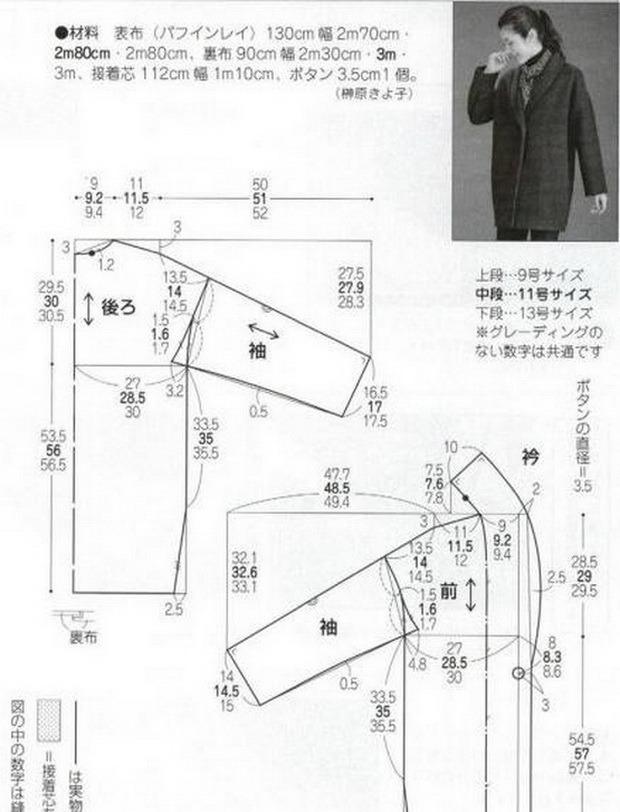 Как сшить пальто самому выкройки 92