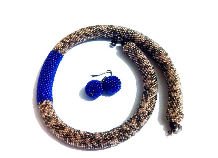 жгут из бисера, вязание бисером