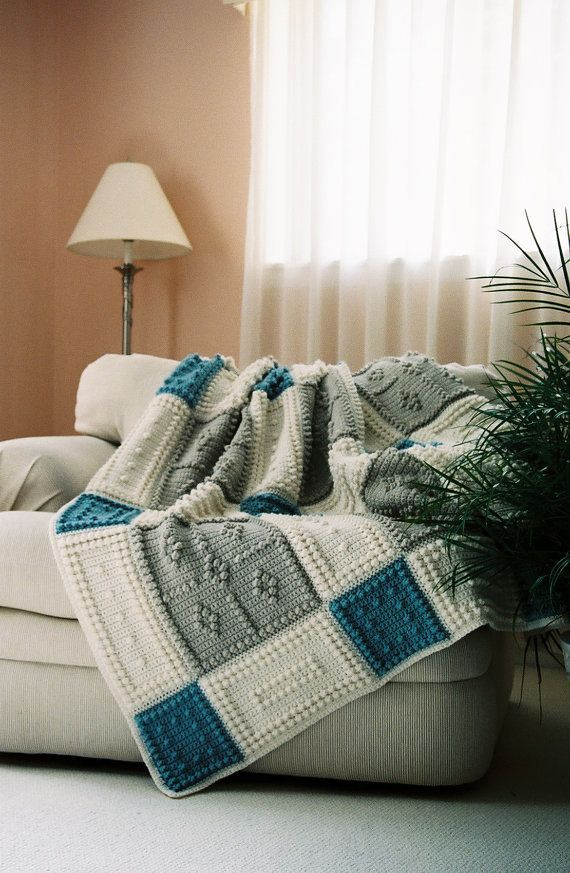 COUNTRY pattern for crocheted blanket by ColorandShapeDesign, $5.00