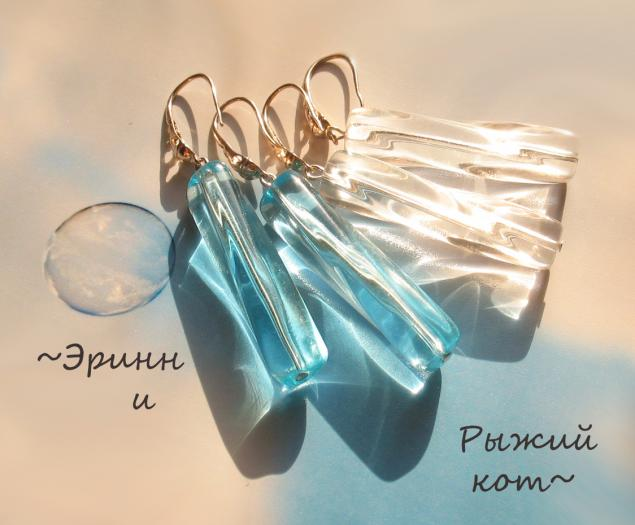 серьги с аметистами, чешское стекло, повтор