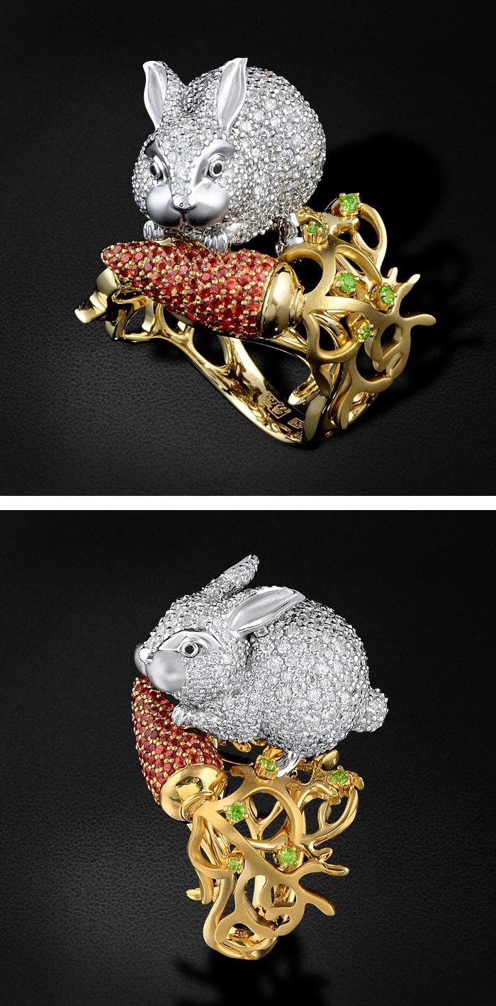 серьги кролики