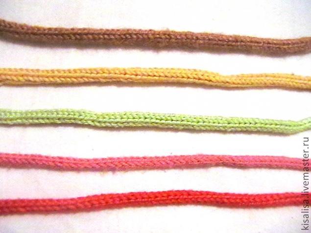Круглый шнур вязанный