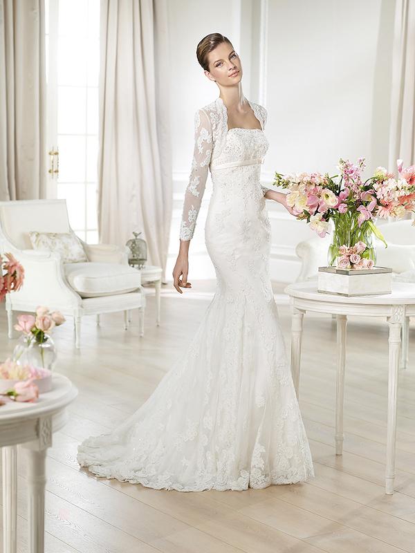 Идеальное кружевное свадебное платье
