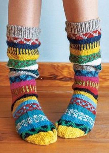 Осень — пора вязать теплые носочки - Ярмарка Мастеров ...