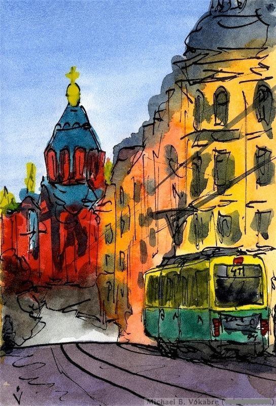 Путешествуем с Михаилом Щербаковым (Vokabre): быстрые зарисовки акварелью, фото № 6