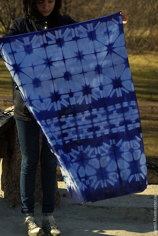 крашение, текстиль 2014, шарфы