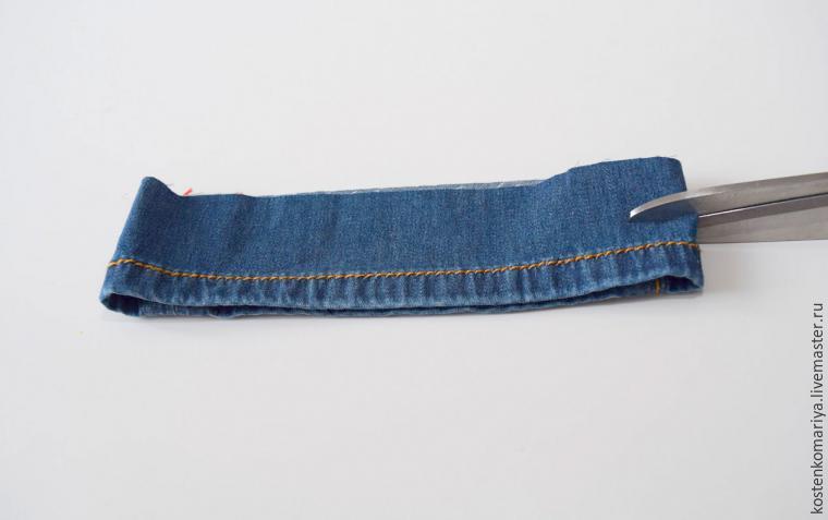 подшиваем джинсы