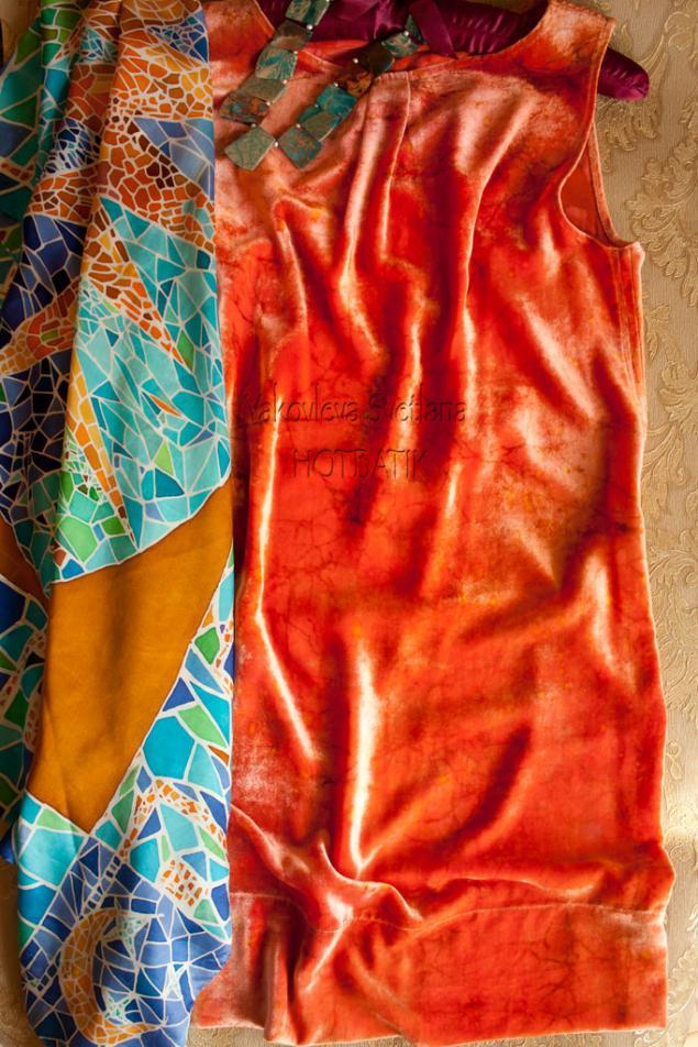 батик-платье
