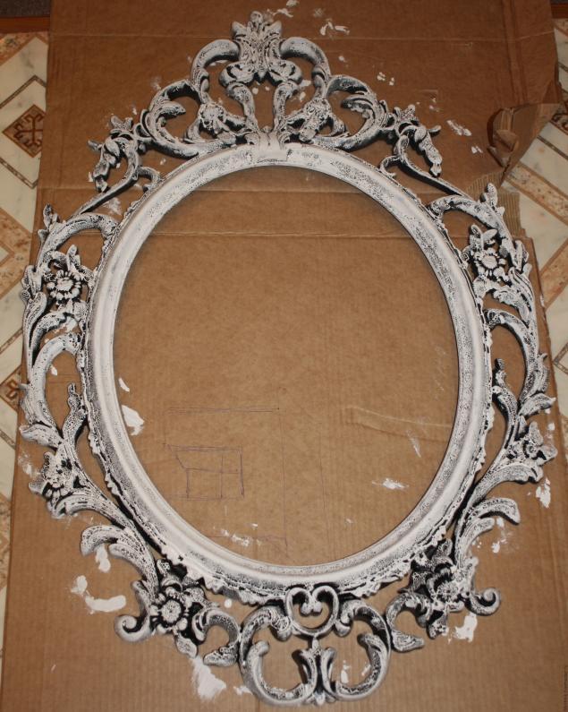 Декорирование старого зеркала