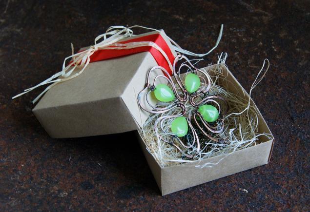 на счастье, wire wrap, подарок подруге