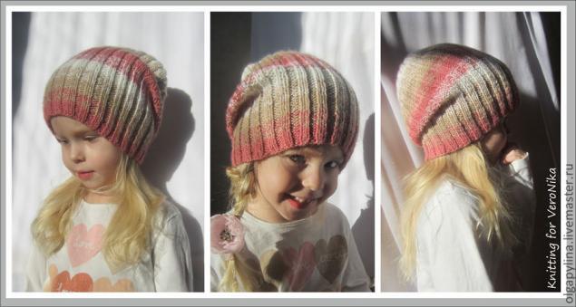 вязание спицами, шапка, шапка