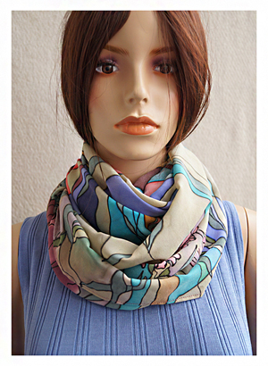 батик, как носить шарф-трубу