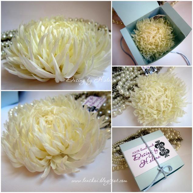 Мастер класс белые хризантемы на белом