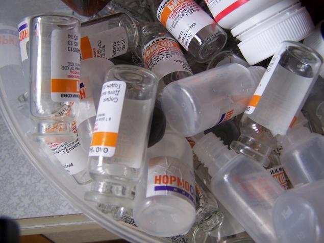 пенициллинки, для хранения бисера