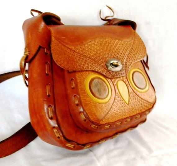 vintage owl purse