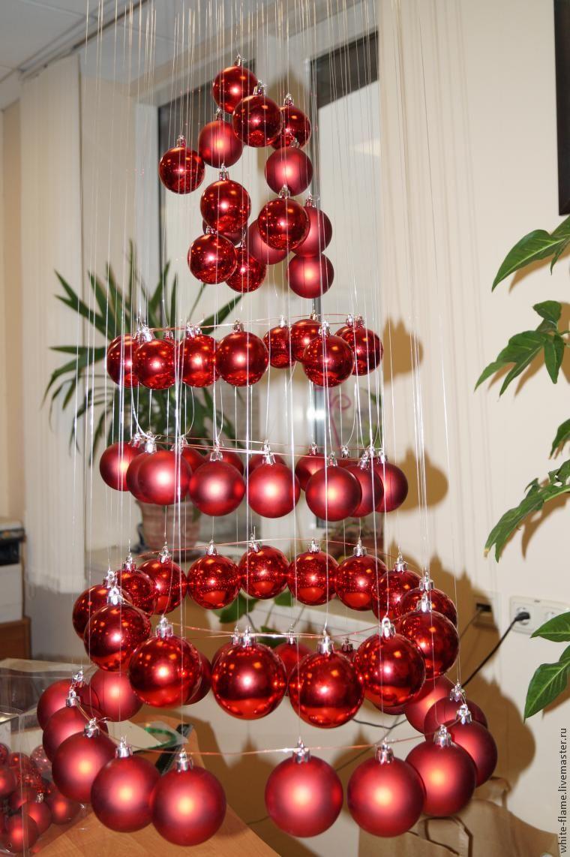 Как сделать елку из шариков своими руками