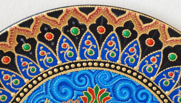 Мастер-класс по точечной росписи: тарелка-панно «танцующий Шива», фото № 19