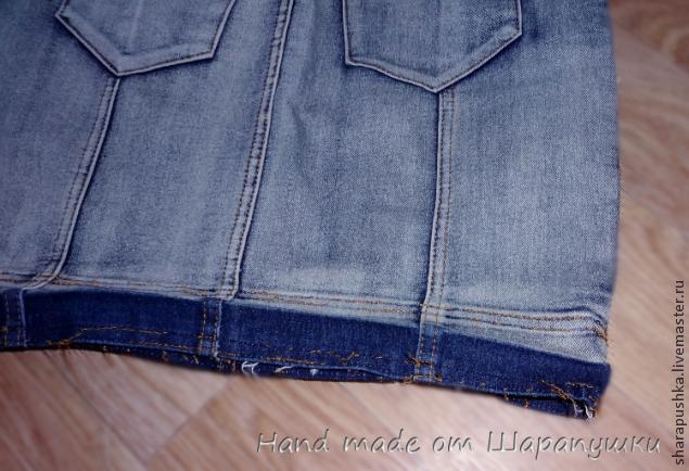 Выкройка для сумки из джинсовой юбки