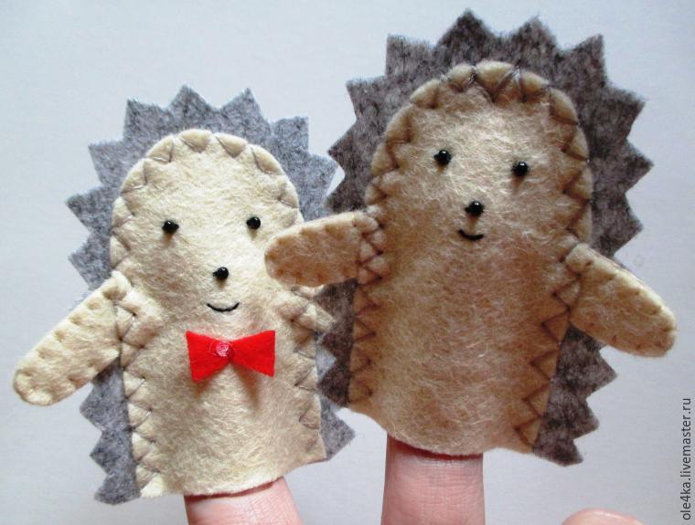 Ежик для кукольного театра своими руками