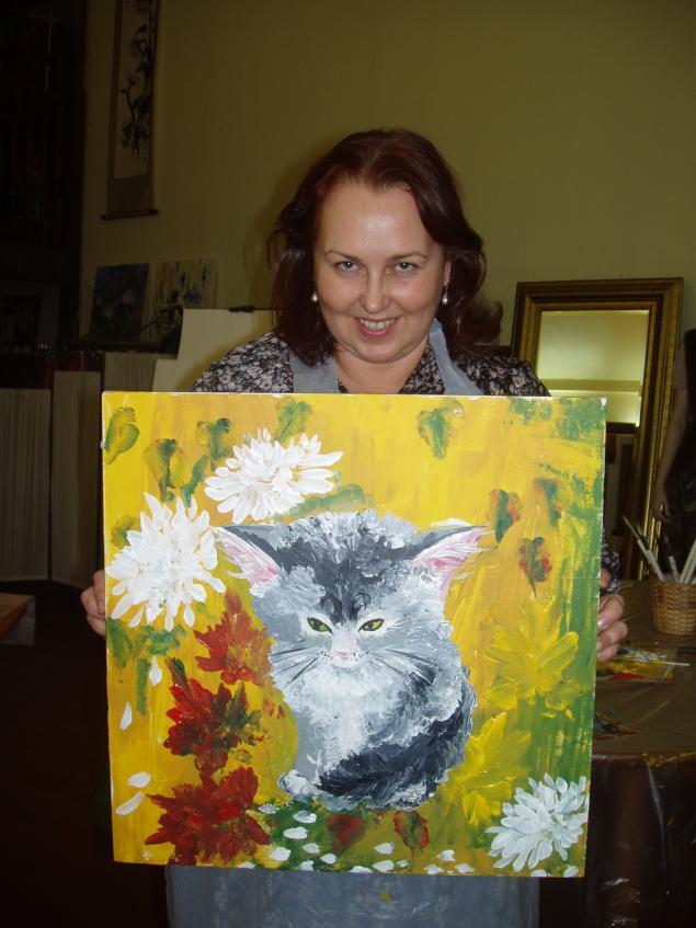 натали котова, обучение живописи с 0-ля, мастер-класс по рисованию, холст