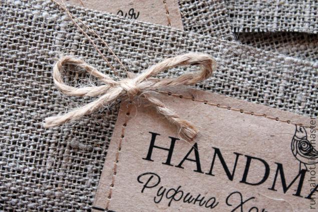 Бирка текстильная своими руками 4