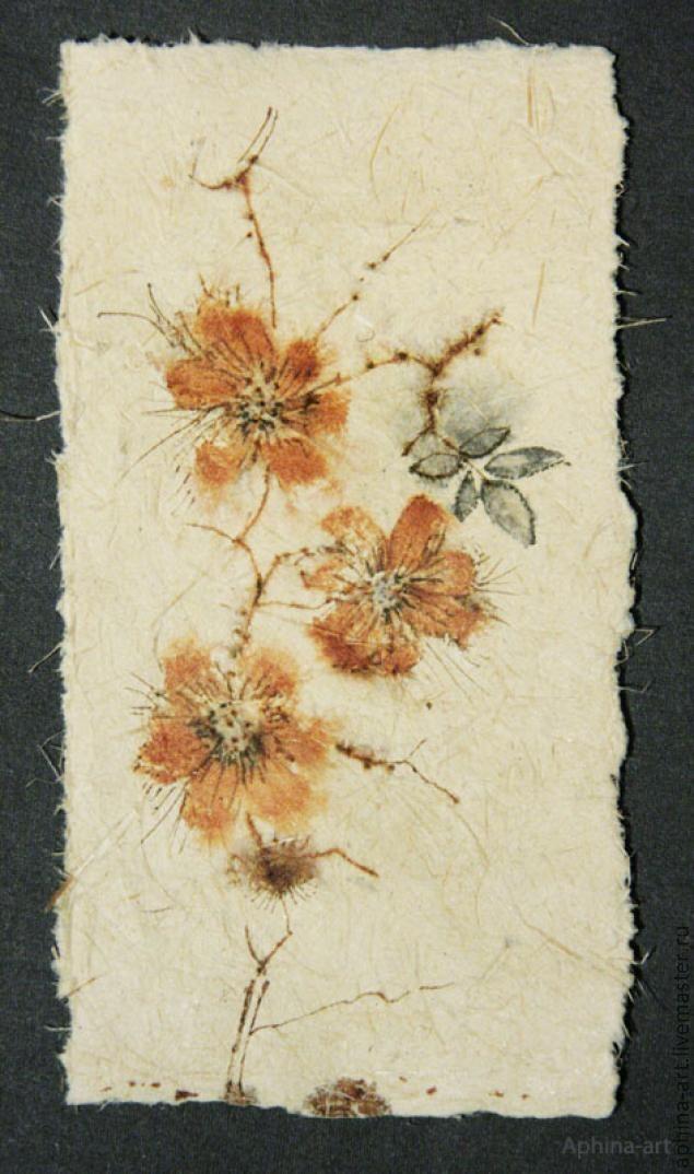 натуральная бумага, бумажное литье