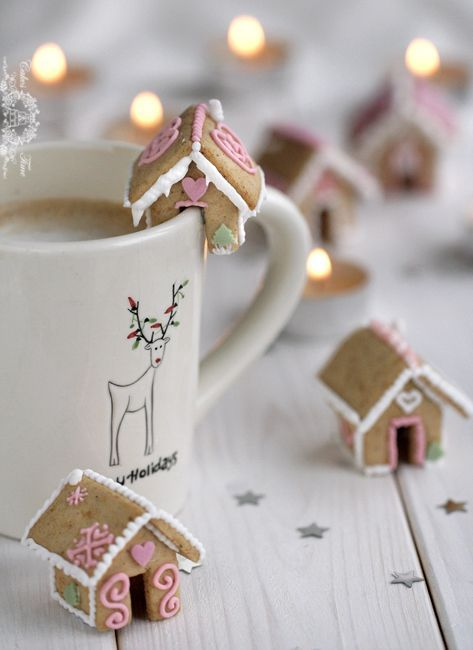 Mini gingerbread houses.