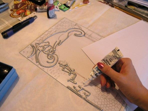 декорирование, мастер класс москва, витражные краски