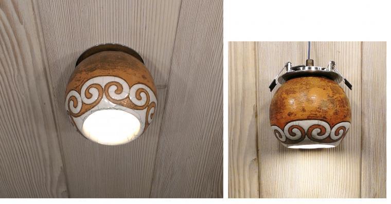 керамический светильник, точечный светильник, дизайнерские светильники