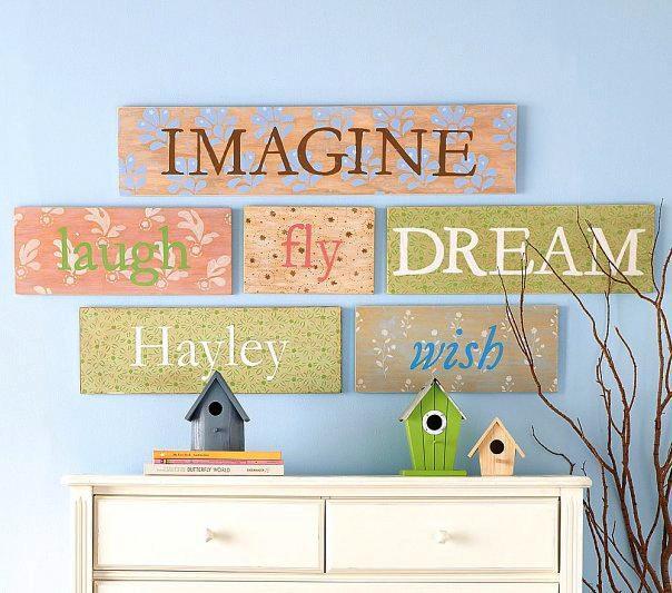 Мысли на виду! (или 60 идей декора стен с помощью слов, букв и цифр), фото № 29
