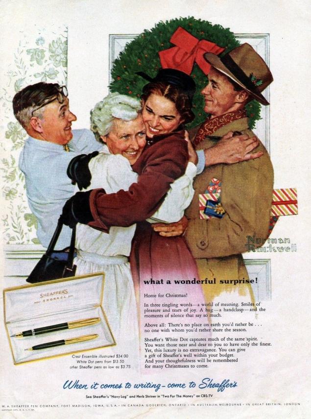 Новогодняя реклама Vintage/1951 -1956 включительно, фото № 50