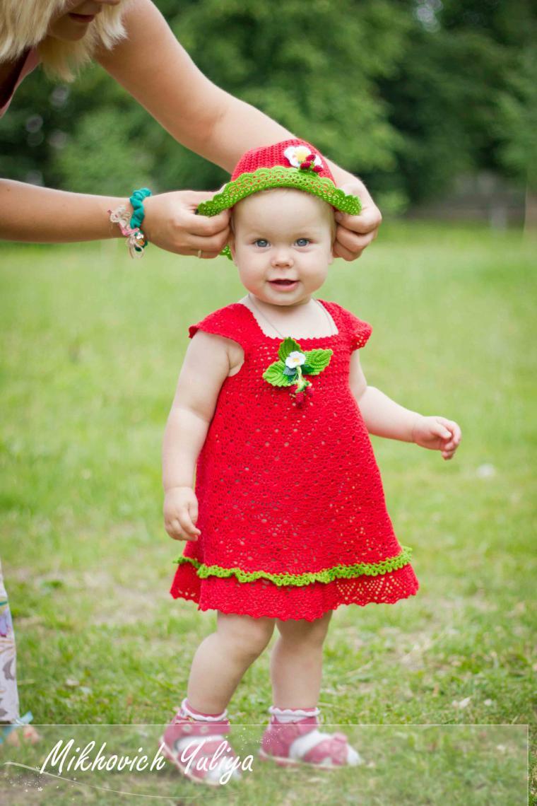 Мастер класс по вязанию платьев малышкам