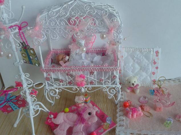 кукольный дом, румбокс, люлька, коляска для кукол, миниатюра, кукольная мебель, кукольные аксессуары, пупс, пупс в коляске