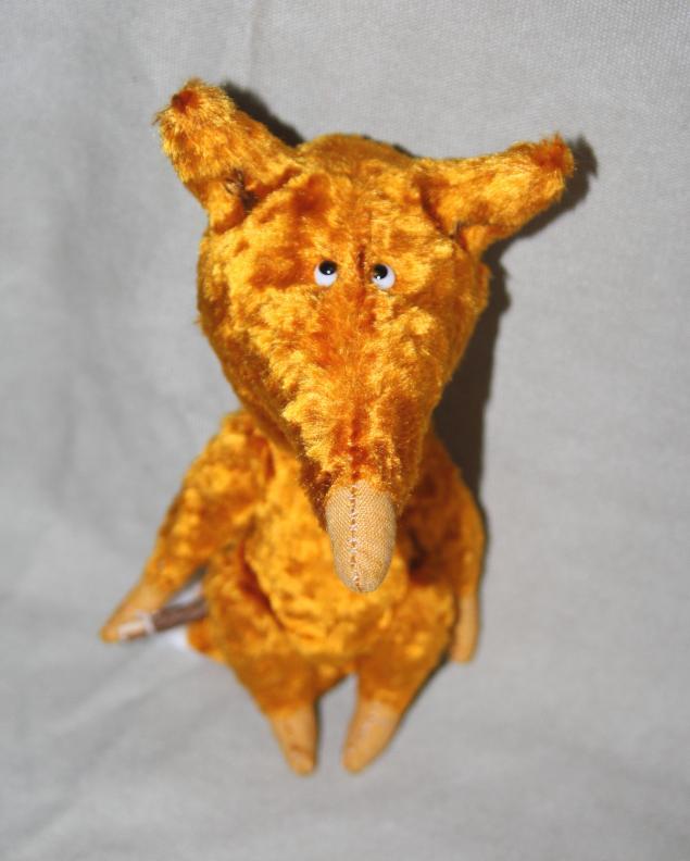 рыжий лис, авторская игрушка