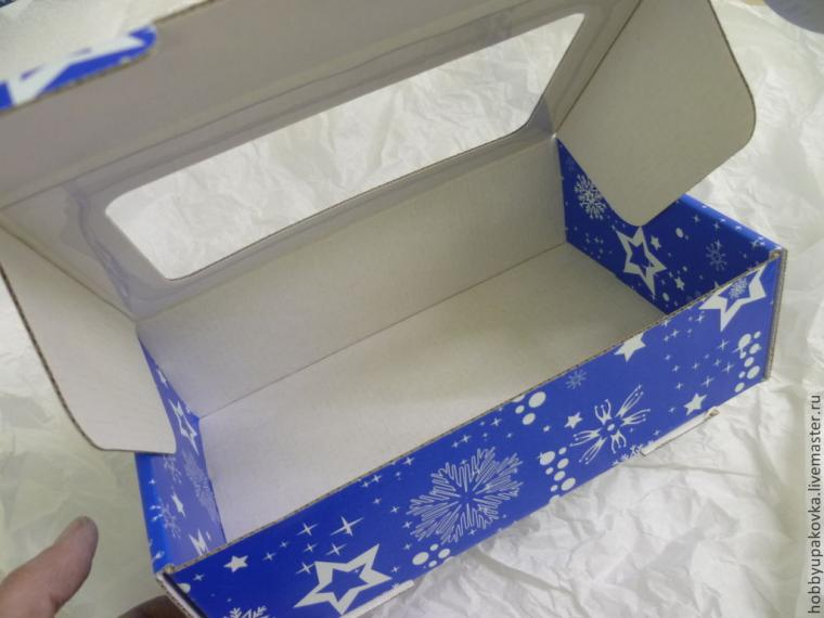 упаковка, коробка, новогодняя акция, снежинка, новогодня упаковка