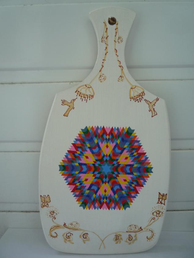 мандалы света, досочка декоративная, гуашь, акриловые краски, медитация