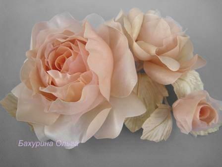 цветы, цветы ручной работы, цветы из ткани, цветок, цветоделие, цветы из шелка, обучение, обучение цветоделию, мастер-класс, бульки, пвс