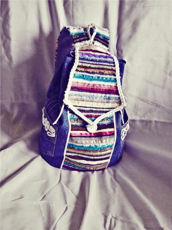 выкройки сумка из джинсов