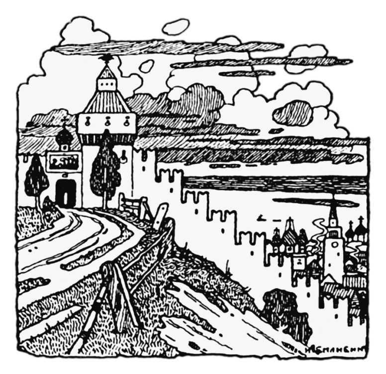 Черно-белая графика знаменитых художников, фото № 32